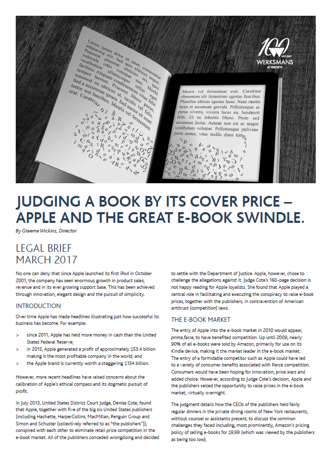 Judging a book by its cover price apple and the great Ebook swindle