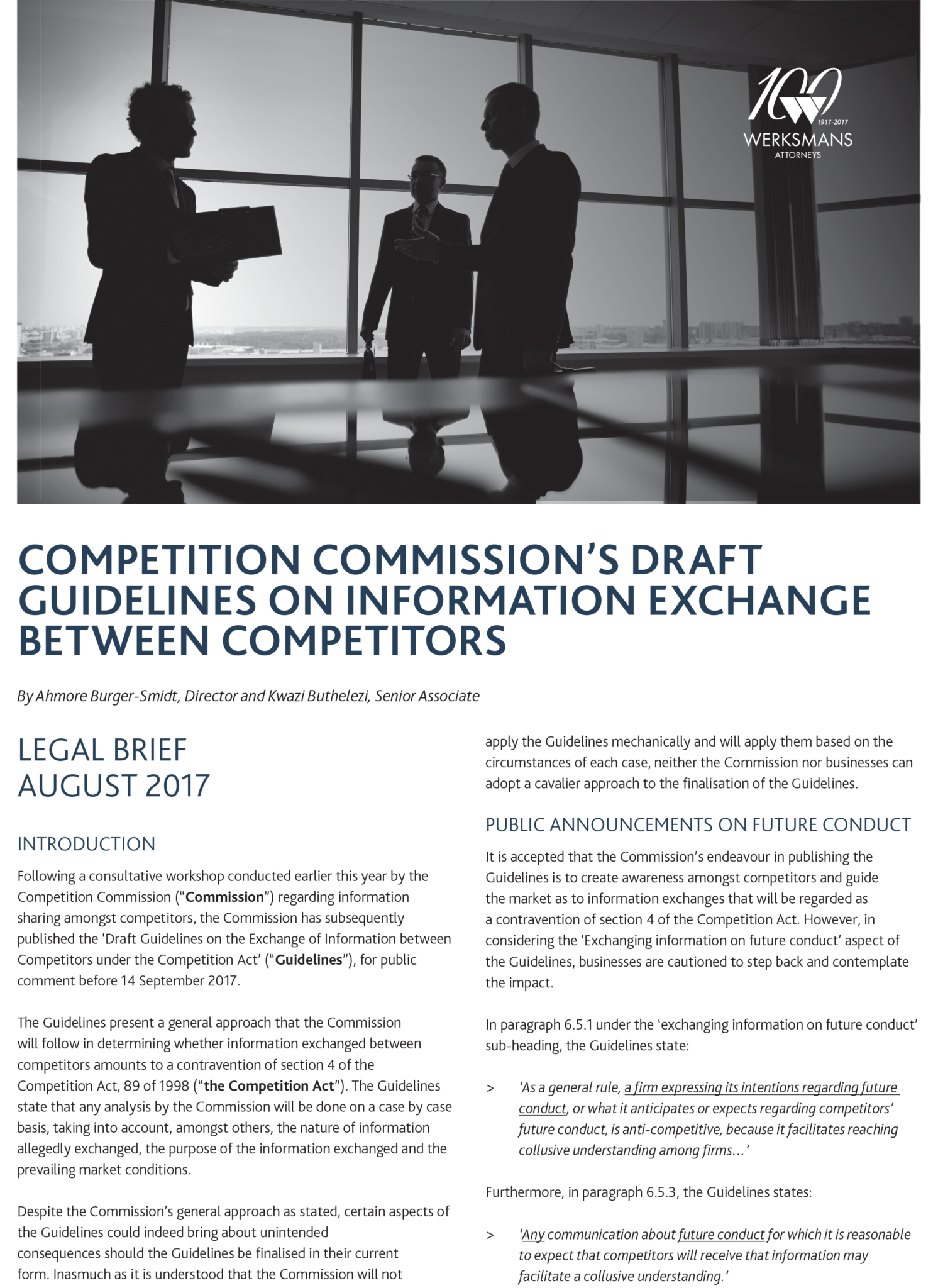 16829 August Legal Brief_Competition Commission FA-1