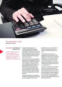159_JN5388Werksmans-Brief_December-2012_TaxAmendments