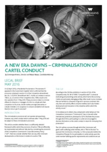 A_NEW_ERA_DAWNS_CRIMINALISATION_OF_CARTEL_CONDUCT