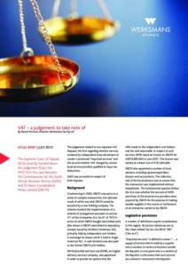 VAT-judgement